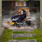 Dachshund The Witch In This House Yard Sign  Dachshund Owner Outdoor Halloween Decorations
