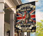 Army Veteran British Flag We Don't Know Them All But We Owe Them All Flag Outdoor Decor