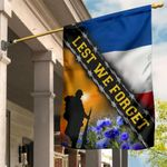 Lest We Forget France Flag Honor Remembrance Day Memorial French Soldiers Patriotic Decor