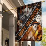 Chihuahua Custom Happy Halloween Flag Pumpkin Dog Lover  Halloween House Decorations Outside