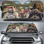Sloth Halloween Auto Sun Shade Funny Halloween Merch Car Sun Shade