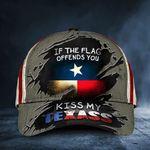 If You Flag Offends You Kiss My Texass Cap US Texas Flag Men Cap