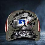 Keep On Truckin' Texas Trucker American Flag Cap Texan Patriotic Truck Driver Hat Dad Gift