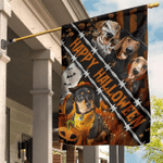 Dachshund Custom Happy Halloween Flag Pumpkin Funny Dog Halloween Yard Decorations