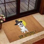 Husky Sup Witches Doormat Funny Welcome Mats Halloween Witch Decor