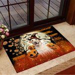 Labrador Retriever Pumpkin Halloween Doormat Halloween Merch Floor Mat House Indoor Decor