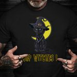 Cat Sup Witches T-Shirt Halloween Cat Shirt Halloween Birthday Gifts