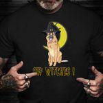 German Shepherd Sup Witches Shirt Cute Dog T-Shirt Halloween Gifts For Boyfriend