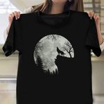 Wolf On The Mountain Shirt Cool Halloween T-Shirts Halloween Gifts For Boyfriend