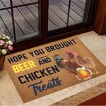 Hope You Brought Beer And Chicken Treats Doormat Modern Welcome Mat Gifts For Beer Lover