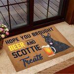 Hope You Brought Beer And Scottie Treats Doormat Beer Doormat Gifts For Dog Owners