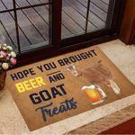 Hope You Brought Beer And Goat Treats Doormat Hilarious Doormats Gifts For Goat Lovers