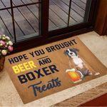 Hope You Brought Beer And Boxer Treats Doormat Inside Door Mats Gifts For Boxer Lovers