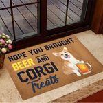 Hope You Brought Beer And Corgi Treats Doormat Hilarious Doormats Gifts For Corgi Lovers