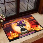Never Mind The Witch Beware Of The Chihuahua Doormat Halloween Doormat Halloween Witch Decor