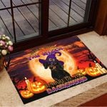 Never Mind The Witch Beware Of The Dachshund Doormat Halloween Welcome Mat Halloween Home Decor
