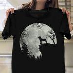 Chihuahua On Mountain Shirt Big Moon Halloween T-Shirts Gifts For Chihuahua Lovers