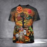 Sloth Pumpkin Halloween Shirt Cute Halloween Themed T-Shirt Graphic Tee