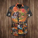 Dachshund Costume Halloween Hawaiian Shirt Funny Dog Halloween Button Up Shirt Themed