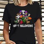 Dachshund Custom Happy Halloweenie Shirt Dog Lover Cute Halloween Shirt Womens Apparel