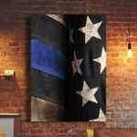 Thin Blue Line Flag Poster Print Wall Decor Support Our Law Enforcement Men And Women