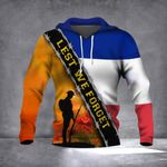 Lest We Forget French Flag Hoodie Honor Remembrance Day Memorial French Soldiers Veteran