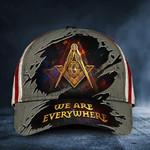 Masonic Hat We're Everywhere USA Flag Freemason Hat Logo Merch Masonic Gift For Him