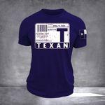 Texas Blood Type Navy Shirt