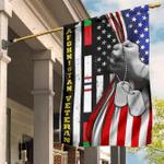 Afghanistan Veteran Flag Inside American Flag Honor Veteran Afghanistan War Soldier Veterans