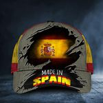 Made In Spain Cap Old Retro Spanish Flag Hat Patriotic Spanish Gifts For Him