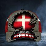 Made In Denmark Hat Flag Old Retro Cap Unique Patriotic Proud Of Danish Gift