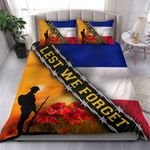 Lest We Forget French Flag Bedding Set Patriotic Remembrance Day Memorial Soldiers Veteran