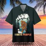 Bigfoot And Havanese I Hate People Hawaiian Shirt Best Beach Shirt Best Gifts For Dog Lovers