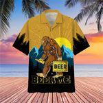 Bigfoot Beer Me Hawaiian Shirt Cool Summer Shirt For Guys Best Gifts For Beer Drinkers