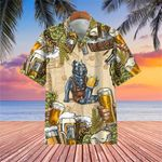Pitbull And Beer Hawaiian Shirt Funny Beach Shirt Best Gifts For Beer Drinkers