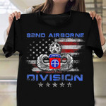 82Nd Airborne Division Veteran Shirt American Flag Military T-Shirts Veterans Day Gifts