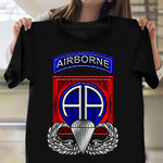 82nd Airborne Division Veteran T-Shirt Retro Graphic Patriotic Shirts Army Retirement Gifts