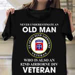 82nd Airborne Division Veteran T-Shirt USA Army Patriotic Tee Shirts Army Retirement Gifts