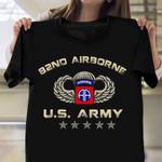 82Nd Airborne U.S Army Veteran T-Shirt Retro Tee Shirt Military Retirement Gifts