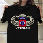 82Nd Airborne Veteran Shirt USA Soldier Vintage American Shirt Gifts For Army Veterans