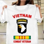 101st Airborne Division Vietnam Combat Veteran Shirt Paratrooper T-Shirt Army Gifts For Him