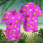 Burger Egg Cheese Food Hawaii Shirt Cute Summer Family Beach Vacation T-Shirt Mens Womens