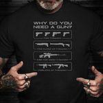 Why Do You Need A Gun T-Shirt 2Nd Amendment Funny Gun Shirt For Men Guys