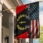 Black American Heritage Flag 1967 And American Flag Old Retro Black African American