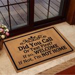 Did You Call First Doormat Funny Doormat Sayings Front Door Welcome Mat