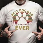 Fathers Day Shirt Best Dog Dad Ever Vintage T-Shirt Uncle Fathers Day Gifts
