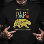 Fathers Day Shirt Unique Graphic Papa Bear T-Shirt Funny Fathers Day Gift