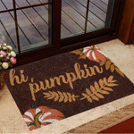 Hey Pumpkin Door Mat Thanksgiving Doormat New Home Presents