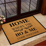 Home Where The Home Come Together Doormat Funny Indoor Floor Mat For Home