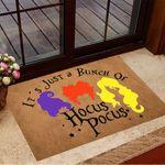It's Just A Bunch Of Hocus Pocus Door Mat Funny Doormat Halloween Gifts